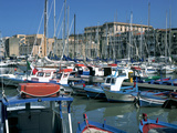 Boats, the Old Fort, La Cala, Palermo, Sicily, Italy Photographic Print by Peter Thompson