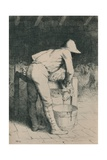 The Butcher and the Sheep, C1916 Giclee Print by William Strang