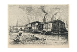 Old Washing-Boats at Grenelle, 1915 Giclee Print by Auguste Lepere