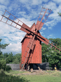 Oland Windmill, Skansen, Stockholm, Sweden Photographic Print by Peter Thompson