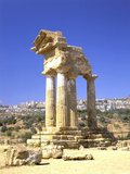 Temple of Dioscuri, Agrigento, Sicily, Italy Photographic Print by Peter Thompson