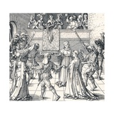 Dance by Torchlight, Augsburg, 1516 Reproduction procédé giclée par Albrecht Dürer