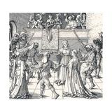 Dance by Torchlight, Augsburg, 1516 Giclee Print by Albrecht Dürer
