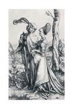 Young Couple Threatened by Death (Or the Promenade), 1495, Reproduction procédé giclée par Albrecht Dürer