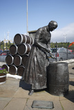 Herring Girl Statue, Stornoway Harbour, Isle of Lewis, Outer Hebrides, Scotland, 2009 Photographic Print by Peter Thompson