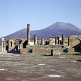 The Capitol from the Forum with Vesuvius Beyond, Pompeii, Italy Photographic Print by CM Dixon