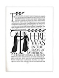 Page Decoration from the Four Gospels, 1931 Giclee Print by Eric Gill
