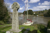 Celtic Cross, St Just in Roseland, Cornwall Photographic Print by Peter Thompson