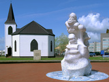 Norwegian Church and Antarctic 100 Memorial, Waterfront Park, Cardiff, Wales Photographic Print by Peter Thompson