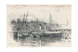 Folkestone Harbour, 1896, (1898) Giclee Print by Edward William Charlton