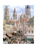 Levine and Walk Rouen,1898 Reproduction procédé giclée par Camille Pissarro