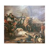 Painting of Napoleon at the Battle of Rivoli, 18th Century Giclee Print by Felix Henri Emmanuel Philippoteaux