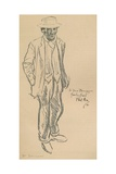 A Self Portrait of Phil May, 1896, (1903) Giclee Print by Philip William May