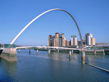Millennium Bridge and Baltic Art Gallery, Gateshead, Tyne and Wear Photographic Print by Peter Thompson