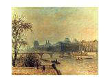 La Seine Et Le Louvre, Paris, 1903 Reproduction procédé giclée par Camille Pissarro