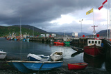 Ullapool Harbour on a Stormy Evening, Highland, Scotland Photographic Print by Peter Thompson
