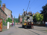 Tram, Beamish Museum, Stanley, County Durham Photographic Print by Peter Thompson