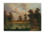 View in St. Jamess Park Showing Rosamonds Pond, 1840 Reproduction procédé giclée par William Hogarth