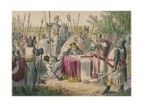 King John Signing Magna Charta, 1850 Giclee Print by John Leech