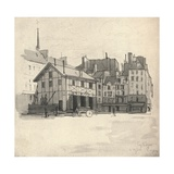 Old Houses at the Quai Des Orfeveres, 1915 Giclee Print by Eugene Bejot
