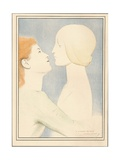 A Travers Les Ages, C1895 Giclee Print by Fernand Khnopff