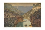 The Gorges of the Tarn, 1912, (1914) Giclee Print by Edward Louis Lawrenson