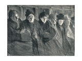 Inside a Tramcar, 1896, (1898) Giclee Print by Theophile Alexandre Steinlen