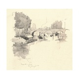 The Pont St Michel, 1915 Giclee Print by Eugene Bejot