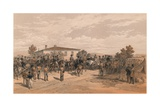 The Funeral Cortege of Lord Raglan Leaving Head Quarters, 1856 Giclee Print by Thomas Picken