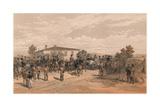 The Funeral Cortege of Lord Raglan Leaving Head Quarters, 1856 Giclee Print by Thomas Picken