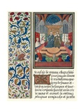 Illuminated Page, with Bordering, C1480 Giclee Print by Jean Froissart