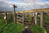 Public Footpath Sign and Kissing Gate, Longridge Fell, Lancashire Photographic Print by Peter Thompson