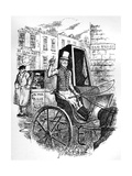 The Last Cab Driver, and the First Omnibus Cad, C1900 Giclee Print by George Cruikshank