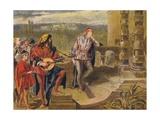 The Musician Sings in the Two Gentlemen of Verona: Act IV Scene II, C1875 Wydruk giclee autor Sir John Gilbert