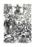 The Woman Clothed with the Sun and the Seven-Headed Dragon, 1498 Reproduction procédé giclée par Albrecht Dürer