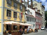 Cafe on Meistaru Iela, Riga, Latvia Photographic Print by Peter Thompson