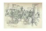 A Street Scene in Delhi, C1903 Giclee Print by Leonard Raven-hill