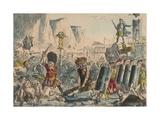 Landing of Julius Caesar, 1850 Giclee Print by John Leech