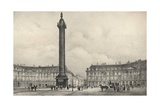 The Place Vendome Column, 1915 Giclee Print by Jean Jacottet