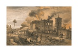 Public Library and Temple of the Winds, 1856 Giclee Print by William Simpson