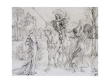 Greeting the Knight, C1880-1932 Giclee Print by Armand Point