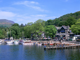 Departure Point for Lake Steamer Cruises, Waterhead, Lake Windermere, Lake District, Cumbria Photographic Print by Peter Thompson