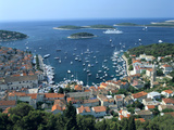 Hvar Town and Harbour, Croatia Photographic Print by Peter Thompson
