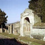 Street of the Tombs on the Edge of Pompeii, Italy Photographic Print by CM Dixon