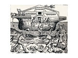 The Building of the Ark Superintended by Noah, (1493), 1903 Giclee Print by Hartmannus Schedel