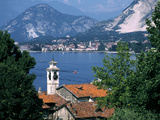 Lake Maggiore, Isola Bella Baveno in Background, Italy Photographic Print by Peter Thompson