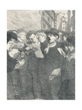 Lile Des Baisers from Chansons De Femmes, 1897 Giclee Print by Theophile Alexandre Steinlen
