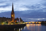 St Matthews Church and Old Bridge, Perth, Perth and Kinross, Scotland, 2010 Photographic Print by Peter Thompson