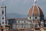 The Cathedral and Giottos Tower in Florence from the Palazzo Vecchio Fotografisk tryk af Filippo Brunelleschi