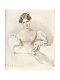 Frances Anne Fanny Kemble, (1809-1893), British Actress, C1829 Giclee Print by Richard James Lane